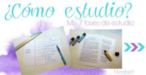 ¿Cómo estudio? Mis fases de estudio