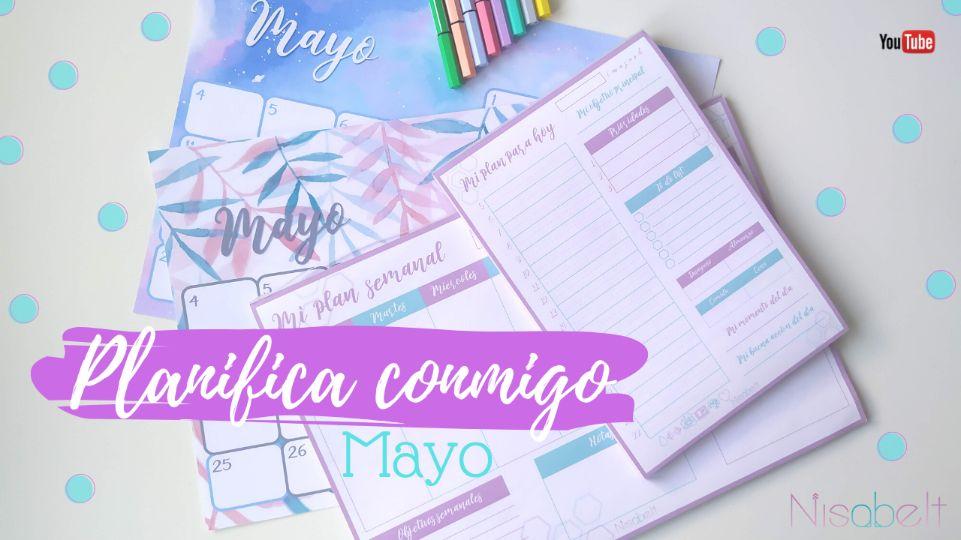 Planifica conmigo mayo. Organización y productividad