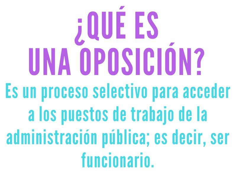 Tipos de oposicion