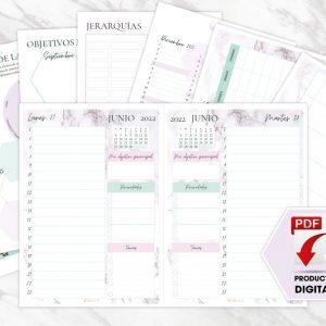 Agenda de Productividad – DIARIA 2021-2022 [PRODUCTO DIGITAL]